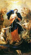 イタリア 御絵 結び目を解く聖母マリア 中 35