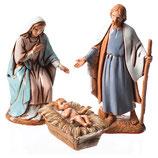イタリア Moranduzzo によるキリスト降誕のシーン聖家族 6.5センチ PR007896