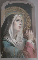 イタリア ご絵 CLARA 19 12.5×7.5センチ 大判飾り縁箔押し 紙裏白