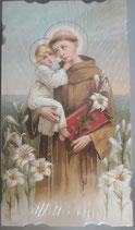 イタリア ご絵 Eucaristina パドヴァの聖アントニオ 029 10.7×6センチ 飾り縁箔押し 紙裏白