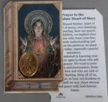 イタリア プラ箔押しカード GENOA聖書型 2 みこころの聖母 8.5×5.5センチ 裏面英語祈り