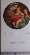 ご絵 絵画 MADONNA OF THE CHAIR  A-15 10.5×6センチ 紙裏白