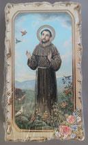 イタリア ご絵 VINCH San Francesco  17 12.2×6.7センチ 大判飾り縁 箔押しエンボス加工 紙裏白