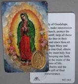 イタリア プラ箔押しカード RCC 136  8.3×5.5センチ 裏面英語祈り