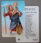 イタリア プラ箔押しカード RCC 59 8.3×5.5センチ 裏面英語祈り