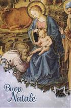 イタリア製 クリスマスカード 定型 聖家族 C1623 180-5