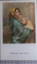 ご絵 絵画  MADONNA  AND CHILD A-22 10.5×6センチ 紙裏白