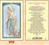 イタリア ご絵 FB SERIE 801-010 ルルドの聖母 6.4×11.4センチ パウチカード OPP袋入り