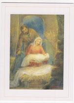 聖母の騎士社 クリスマスカード 聖誕パステル みまきかずこ絵