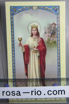 イタリア パウチご絵 聖バーバラ  11×7センチ