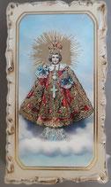 イタリア ご絵 VINCH Bambino dl Praga 05 12.2×6.7センチ 大判飾り縁 箔押しエンボス加工 紙裏白