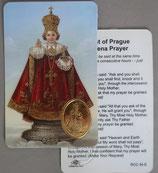 イタリア プラ箔押しカード RCC 34  8.3×5.5センチ 裏面英語祈り