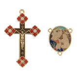 イタリア RO019149 ロザリオセンターピース&クロスセット 聖母子
