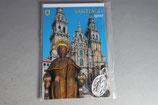 スペイン サンチャゴ デ コンポステーラ カード付き巡礼メダイ 聖ヤコブ長