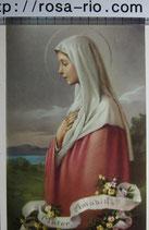 ご絵 手判 聖母マリア A 14×9.5㎝ 裏白