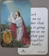 イタリア プラ箔押しカード RCC 65 8.3×5.5センチ 裏面英語祈り