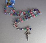 サンチャゴデコンポステーラ 聖ヤコブ 剣十字架 プラカラフルロザリオ 丸