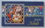 FB NATALE イタリア 新作クリスマスご絵カード&封筒セット 8×13.5センチ裏白 封筒 9×14センチ 定型 421-1