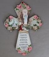 イタリア ルルド パネルクロス ベルナデッタとルルドの聖母(大聖堂)フランシスコ教皇