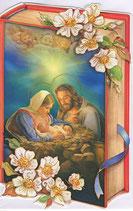 イタリア製 クリスマスカード 定型 聖家族 220-25