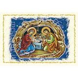 イタリア 羊皮紙 クリスマスカード 風景 1028
