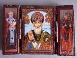 ブルガリア正教会 イコン3つ折り ミニi板ご絵  6×4センチG