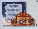 FB NATALE イタリア製 マグネット 聖家族 1100-1 6、5×6センチ