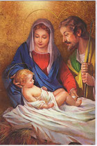 イタリア製 クリスマスカード 定型 聖家族 220-13