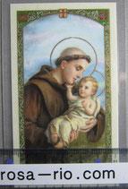 イタリア パウチご絵 パドヴァの聖アントニオ 11×7センチ
