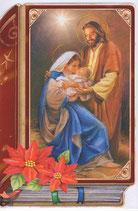 イタリア製 クリスマスカード 定型 聖家族 220-26