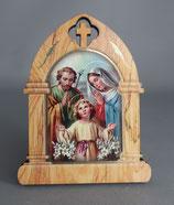 イタリア 卓上合板デコパージュ9×7センチ 聖家族