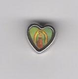 ロザリオパーツ カトリックセンター08070 ハートパーツ グアタルーペの聖母 8×8ミリ 厚み5ミリ