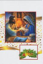 イタリア製 クリスマスカード 定型 聖家族  220-5