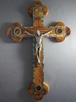 イスラエル オリーブ聖品十字架飾り33センチ金属製ボディ 貝象嵌 4種聖品