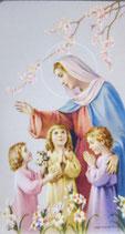 聖母マリアご絵 聖母と3人の子供達