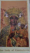 イタリア ご絵 RENI チェストホヴァの聖母 1243 10×6センチ 紙裏白