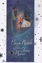 イタリア製 クリスマスカード 定型 聖家族とひつじかいc-3 220-28