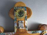 イスラエル オリーブ高級聖品十字架飾り28センチ合金ボディ 貝象嵌 4種聖品