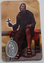 イタリア 日本語 メダイ付きカード 聖ペレグレン 癌の癒やしの祈り