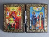 ブルガリア正教会 イコン2つ折り ミニi板ご絵  6×4センチF