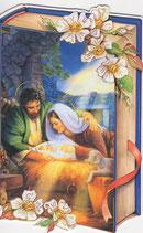イタリア製 クリスマスカード 定型 聖家族 220-24