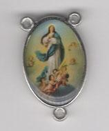 ロザリオセンターメダイ カトリックセンター08049 両面 聖母被昇天 枠内20ミリ 縁まで23ミリ