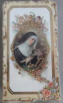 イタリア ご絵 VINCH Santa Rita 16 12.2×6.7センチ 大判飾り縁 箔押しエンボス加工 紙裏白