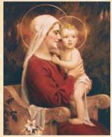 イタリア FB ご絵 20×25センチ紙 8.10-238 CHAMBERS 聖母子
