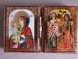 ブルガリア正教会 イコン2つ折り ミニi板ご絵  6×4センチB