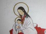 東京カルメル会修道院多目的無地カード聖母子和紙NO.5