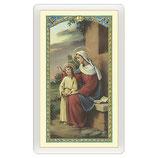 パウチカードイタリア2408 Santino Sant'Anna Preghiera ITA 10x5