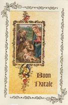 イタリア製 クリスマスカード 定型 洗礼者ヨハネと聖家族c1622 180-11