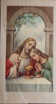 ご絵 ミニ 7×4センチ 聖体の祝福 E-2 紙裏白