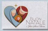 FB NATALE イタリア 新作クリスマスご絵カード&封筒セット 8×13.5センチ裏白 封筒 9×14センチ 定型 431-1